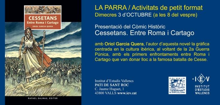 invit 3 octubre LA PARRA Cessetans
